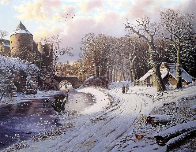 , 'Walkers in winterlandscape,' , ArtBoutique