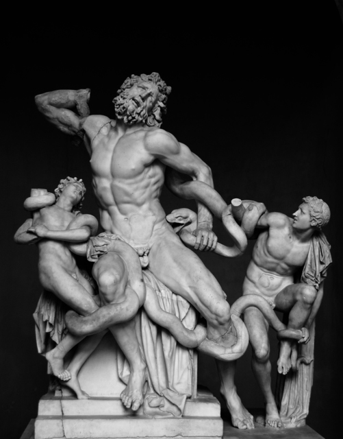 Hagesandros, Polydoros, and Athanadoros of Rhodes, 'Laocoön and His Sons, as restored today (probably the original or a Roman copy)', 1st century A.D., Art History 101