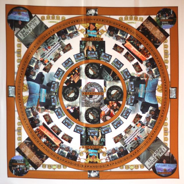 , 'Rosalind Krauss, pañuelo conmemorativo del conicto del campo expandido (1979 - 2008),' 2013, Isla Flotante