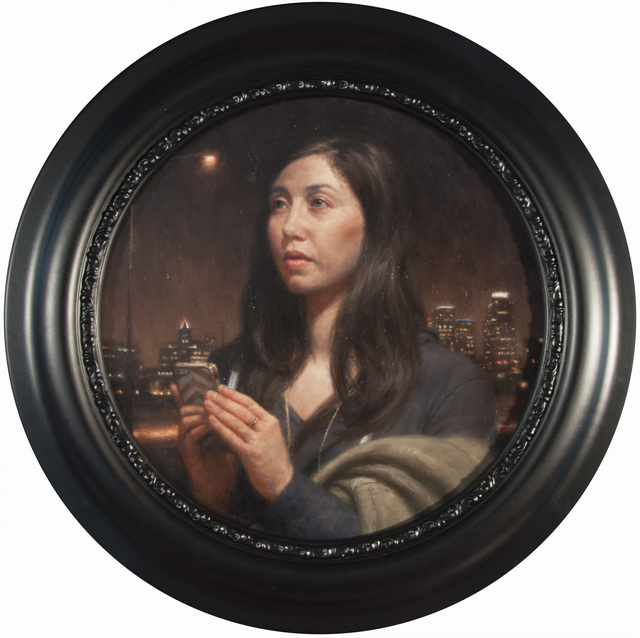 , 'iPRAYER (portrait of a woman with phone),' 2015, Booth Gallery