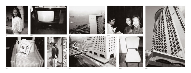 Andy Warhol, 'Nine works: (i) Young Woman; (ii) Chair and Bag; (iii) Television; (iv) Fred Hughes; (v) Hong Kong Harbour; (vi) Street and Building; (vii) Unidentified Woman and Waiter; (viii) Chair; (ix) Hong Kong Building', 1982, Photography, Nine gelatin silver prints, Phillips