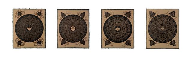 , 'Richard Gabriele's Copy of Albrecht Dürer's Copy of Leonardo da Vinci's Copy of Knots: Inside Joke for Ananda K. Coomaraswamy,' 2017, Bahdeebahdu