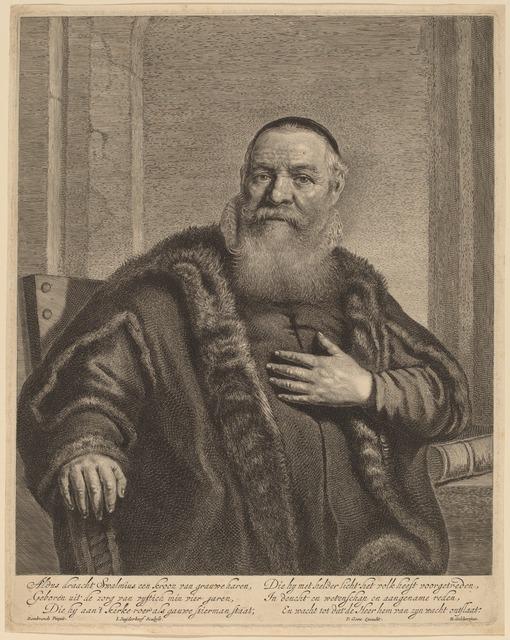 Jonas Suyderhoff after Rembrandt van Rijn, 'Eleazer Swalmius', National Gallery of Art, Washington, D.C.