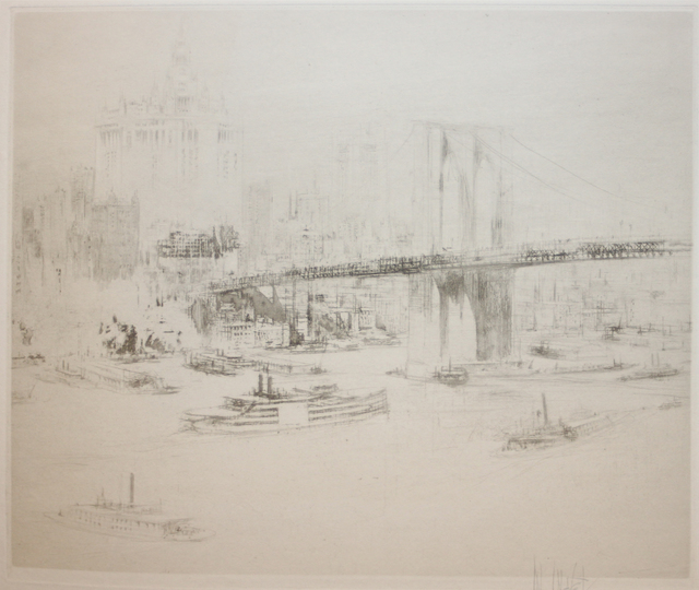 , 'Brooklyn Bridge,' 1923, EastCoastArt