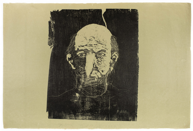 Jim Dine, 'Woodcut Self Portrait (unique)', 1974, Petersburg Press