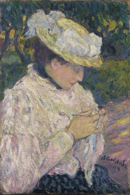 , 'Jeune femme dans un jardin,' 1894, Stoppenbach & Delestre