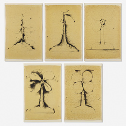 Lithographs of the Sculpture: The Plant Becomes a Fan (five works)