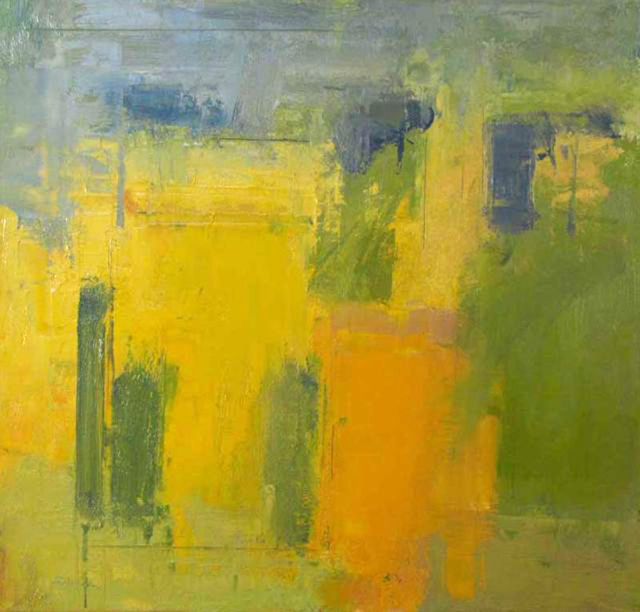 Stuart Shils, 'Yellow and Greens From My Window', 2012, Somerville Manning Gallery