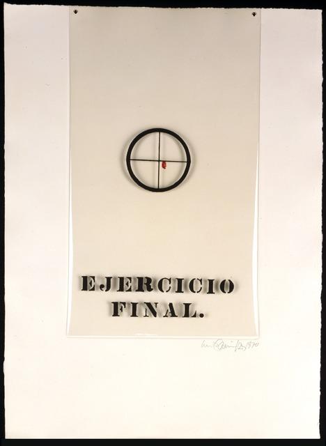 Luis Camnitzer, 'Ejercicio final from Gráfica Latinoamericana portfolio', 1970, Print, Screenprint on mylar attached to paper, Blanton Museum of Art