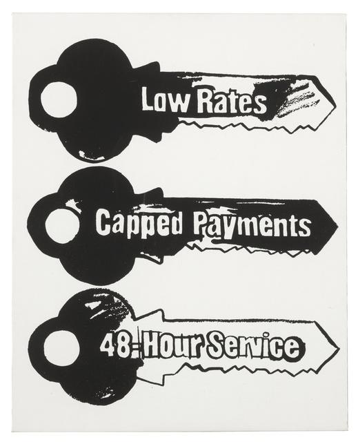 Andy Warhol, 'Key Service (Positive)', 1985, Sotheby's