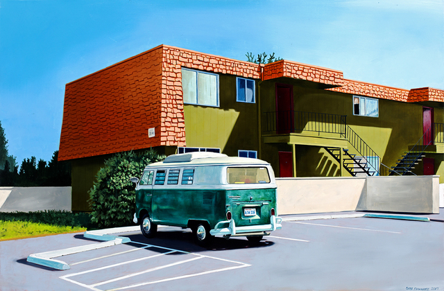 , 'Green VW Bus and Orange Roof,' 2017, Linda Hodges Gallery
