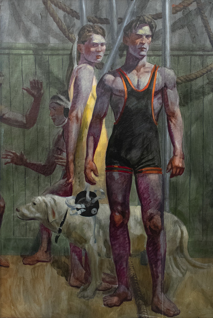 Mark Beard, 'A Wrestler, His Girlfriend and Their Dog', Unknown, Carrie Haddad Gallery