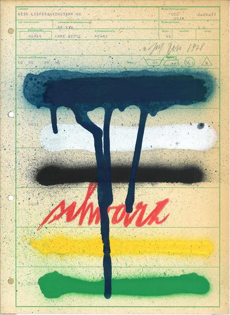 , 'Ohne Titel,' 1978, Krobath