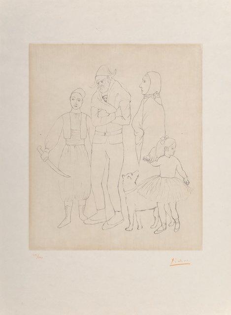 Pablo Picasso, 'Famille des saltimbanques', c. 1950, Print, Etching on japon nacré paper, Heritage Auctions