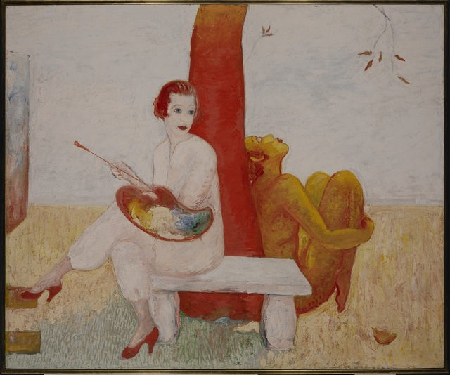 , 'Self-portrait with Palette (Painter and Faun),' 1915, Norton Museum of Art