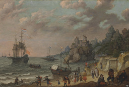 , 'Dutch merchant ships in a harbor,' , Christie's Old Masters