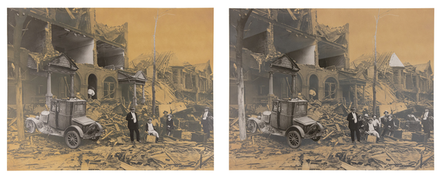 Roger Welch, 'Earthquake', 1980, Photography, Watercolor ink on photograph (Diptych), ClampArt