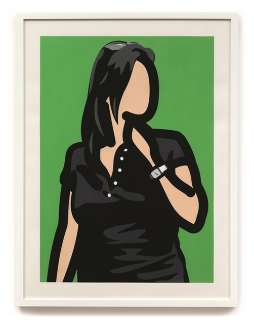Julian Opie, 'Tourist with watch', 2014, Print, Screenprint with hand painting, Vogtle Contemporary