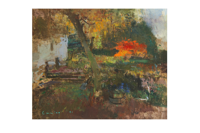 Fred Cuming, R.A., 'Autumn garden', Chiswick Auctions