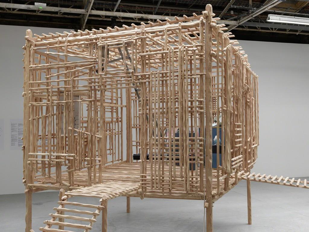 Exhibition view of Sara Favriau, La redite en somme, ne s'amuse pas de sa répétition singulière, Palais de Tokyo (19.02 – 16.05.2016). Courtesy of the artist & Galerie Maubert (Paris). Photo: André Morin.