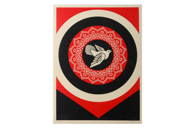 Shepard Fairey, 'Obey Peace Dove Black', 2011, Chiswick Auctions
