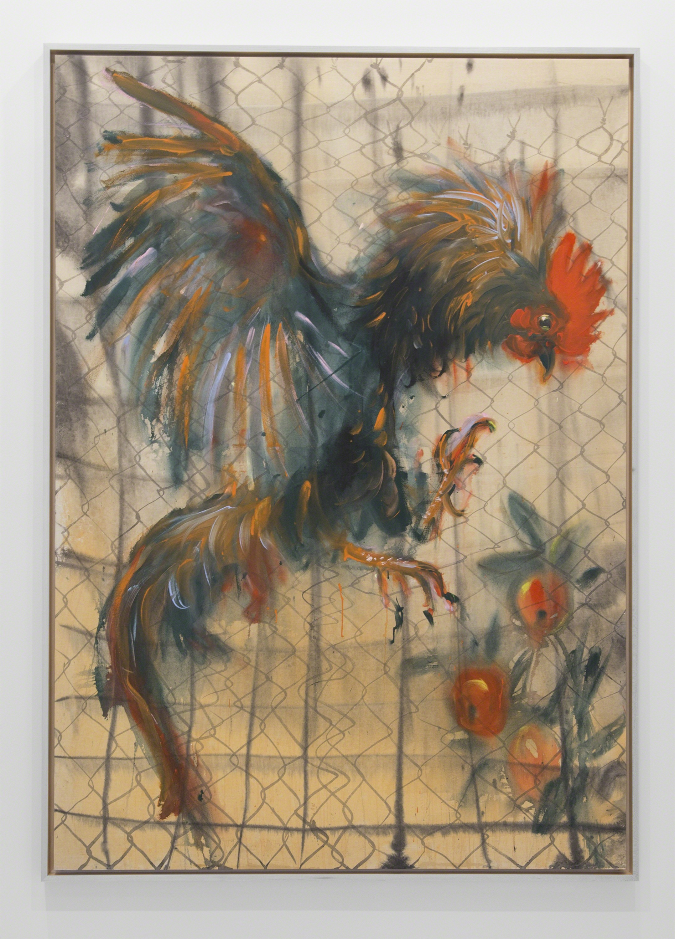 , 'Rooster, apples and the fence,' 2016, Nathalie Karg Gallery