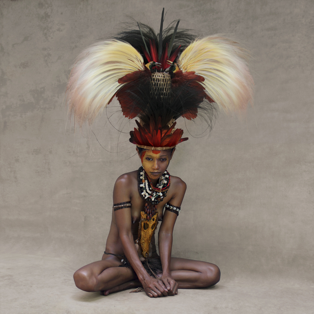 , 'Young Woman with Feather Headpiece, New Guinea,' 2017, Addicted Art Gallery