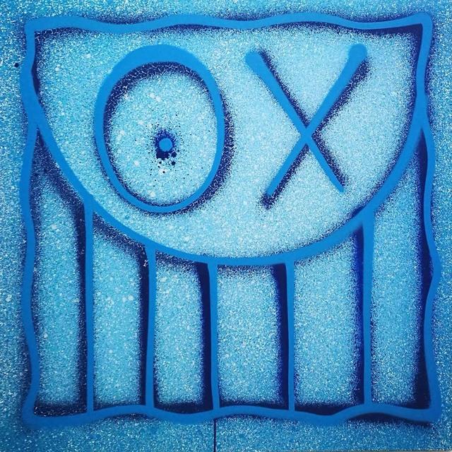 , 'Mr A Square on Blue Rain,' 2017, Danysz Gallery