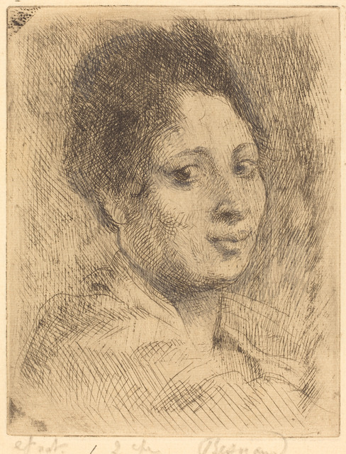 Albert Besnard, 'Peppina', 1919, Print, Etching in black touched with graphite on cream laid paper, National Gallery of Art, Washington, D.C.