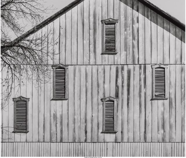 David Plowden, 'Barn - Sharpsburg, Maryland', 1966, Heritage Auctions