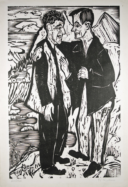 Ernst Ludwig Kirchner, 'Friends (Müller and Scherer)', 1924, Henze & Ketterer