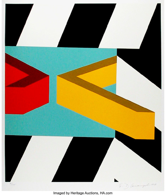 Allan D'Arcangelo, 'Caves', 1979, Print, Screenprint in colors, Heritage Auctions