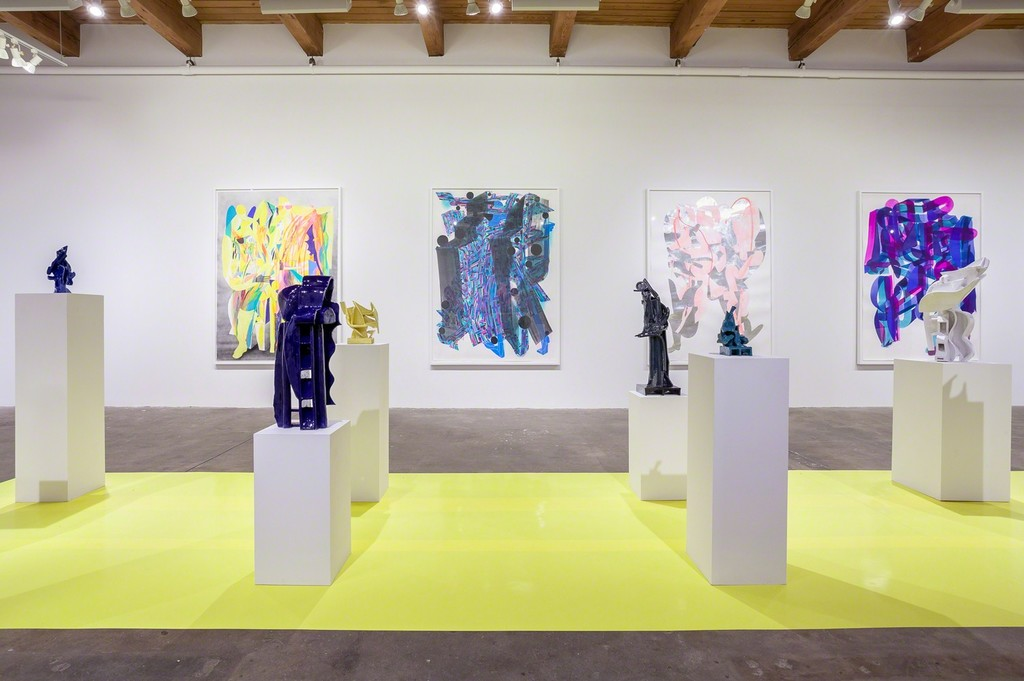 Installation view. Carrie Secrist Gallery, 2018.