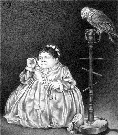 James Mundie, 'Midget Fat Lady With A Parrot', Stanek Gallery