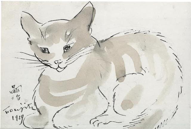 Léonard Tsugouharu Foujita, 'Chat', 1929, BAILLY GALLERY