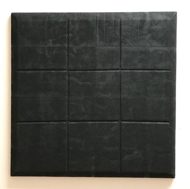 "Ryan DaWalt, ' ""Untitled (Magnetite shaped canvas)""', 2018, Painting, Ferromagnetic soil, felt, wood, Park Place Gallery"