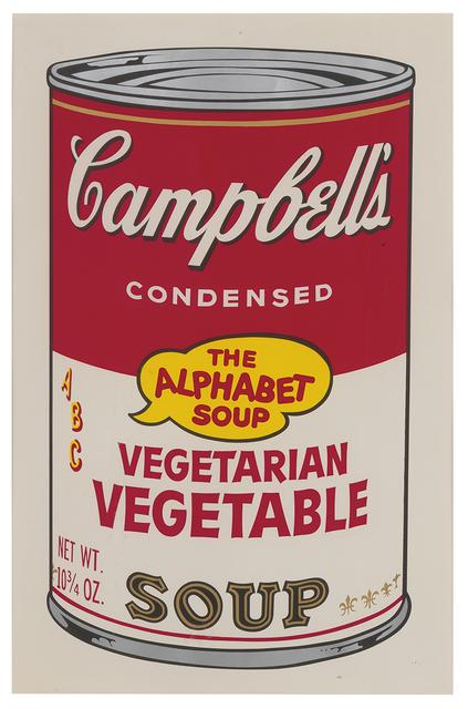 Andy Warhol, 'Campbell's Soup II, Vegetarian Vegetable F&S II.56', 1969, Fine Art Mia