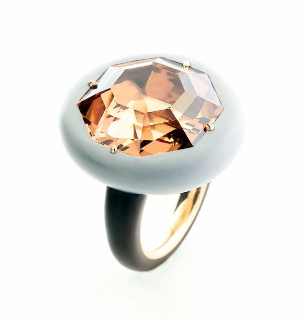 , 'Malaya Garnet, Ceramic and 18k Rose Gold Ring ,' , Taffin