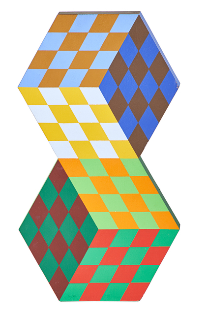 Victor Vasarely, 'TRIDIM-RV', 1980, Painting, Acrylic on wood, Rago/Wright