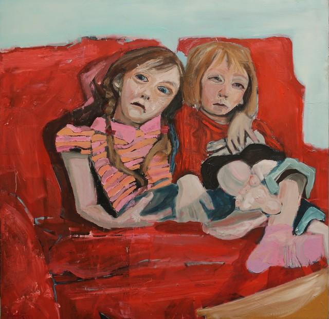 , 'Children on sofa,' 2018, Castlegate House Gallery