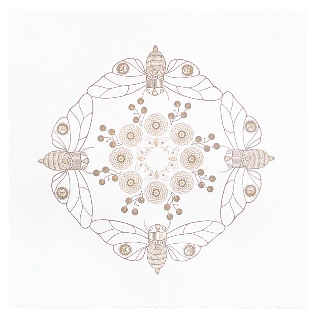 , 'Mandala A,' 2014, Pele Prints