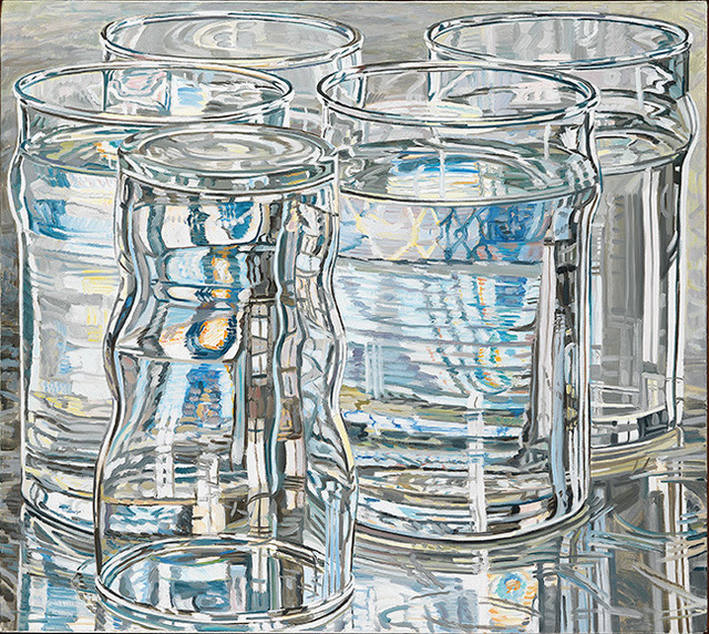 , 'Five Tall Glasses, One Dawn Morning,' 1975, DC Moore Gallery
