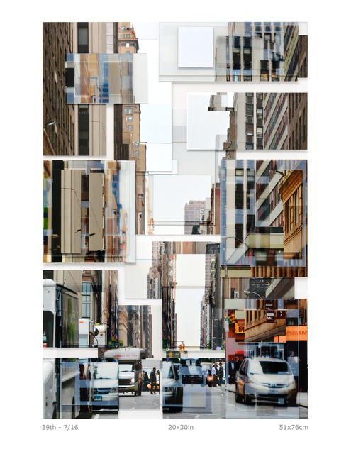Phil Stein, '39th', 2016, Photography, Photography on plexi collage, Abbozzo Gallery