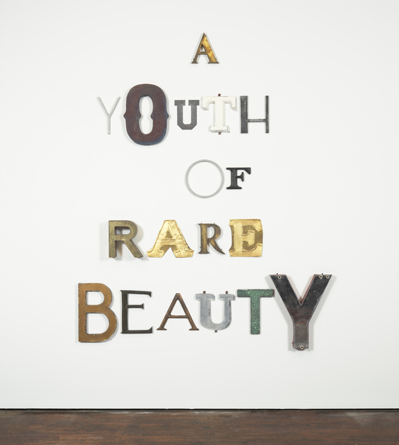 , 'A YOUTH OF RARE BEAUTY,' 2014, Galerie Thaddaeus Ropac