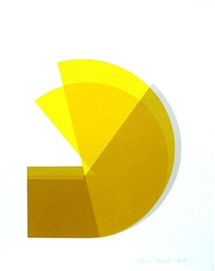 , 'Yellow Pin Wheel,' 2009, Maddox Arts