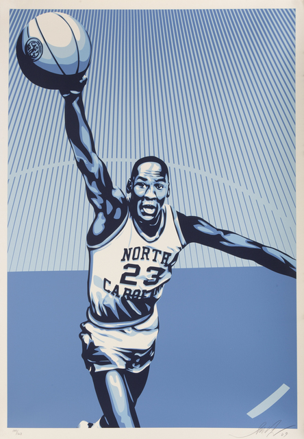 Shepard Fairey (OBEY), 'Jordan Unc, From The Michael Jordan Hall Of Fame Tribute Series', 2009, Julien's Auctions