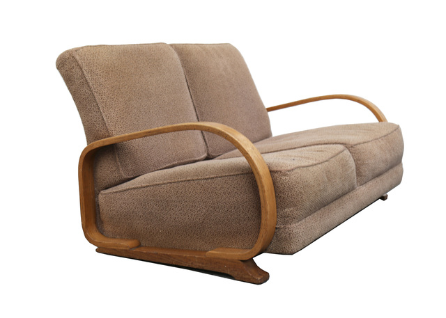 Awesome Gilbert Rohde Heywood Wakefield A Two Seater Art Deco Dailytribune Chair Design For Home Dailytribuneorg