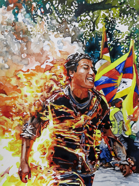 , 'Man on Fire 5,' 2019, Ochi Projects