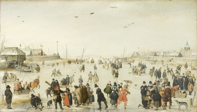 Hendrick Avercamp, 'Winter Scene on a Frozen Canal', ca. 1620, Los Angeles County Museum of Art