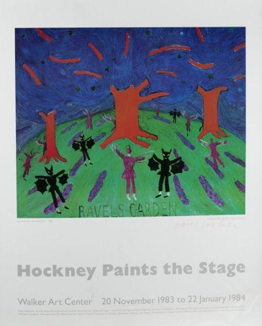 David Hockney, 'Paints The Stage', 1984, Hidden